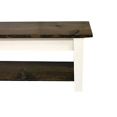 Gracie Oaks Su Wood Storage Bench; 17'' H x 72'' W x 12'' D