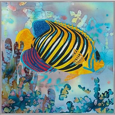 Highland Dunes 'Regal Angel Fish' Print; White Metal Framed