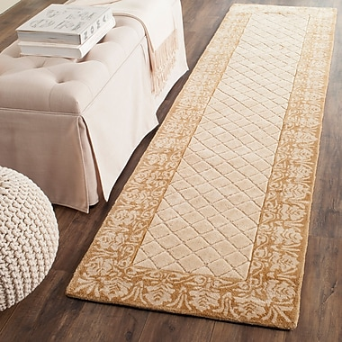 Darby Home Co Caine Glam Hand Tufted Ivory Area Rug; Runner 2'3'' x 9'