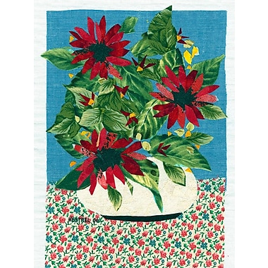 August Grove 'Red Flowers' Graphic Art Print; Rolled Canvas