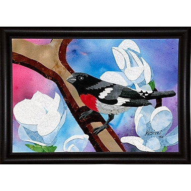 August Grove 'Rose Breasted Grosbeak' Print; Wrapped Canvas