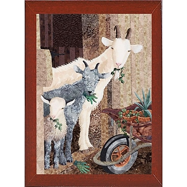 August Grove 'Three Goats and a Wheelbarrow' Graphic Art Print
