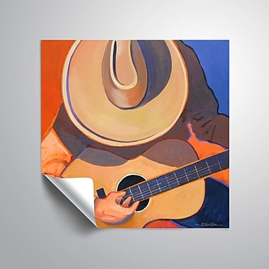 ArtWall Cowboy Guitar Wall Mural; 24'' H x 24'' W