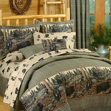 Blue Ridge Trading The Bears 3 Piece 100pct Cotton Sheet Set; Queen
