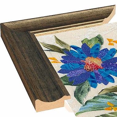 Red Barrel Studio 'Blue Flowers' Graphic Art Print; Wood Floater Framed Wrapped Canvas