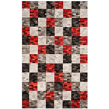 Orren Ellis Sidd Leather Hand Tufted Gray Area Rug; 8' x 10'