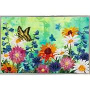August Grove 'Butterflies' Print; Silver Metal Framed