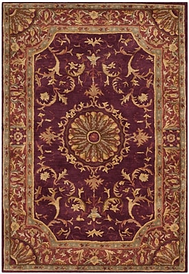 Astoria Grand Latarra Hand Tufted Wool Burgundy Area Rug; 2' x 3'