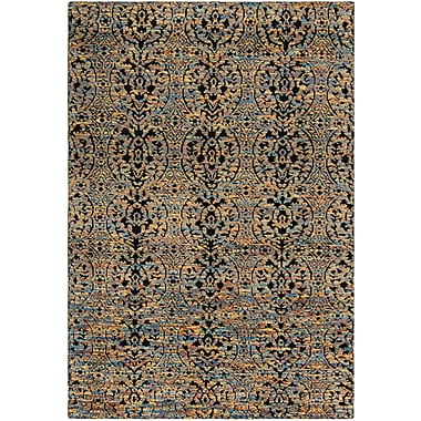 Bloomsbury Market Merriam Hand Tufted Wool Blue/Gold Area Rug; 6' x 9'