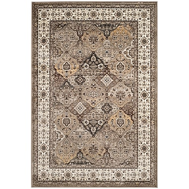 Darby Home Co Carolus Silver Oriental Area Rug; 5'3'' x 7'6''