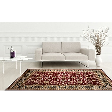 Astoria Grand Anora Saruk Red Area Rug; 9' x 12'