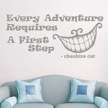 Decal House Alice in Wonderland Every Adventure Wall Decal; Silver Metallic