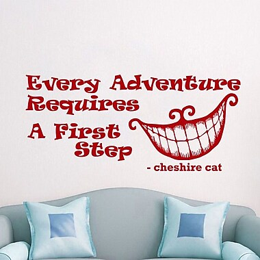 Decal House Alice in Wonderland Every Adventure Wall Decal; Red