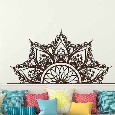 Decal House Mandala Headboard Wall Decal; Brown