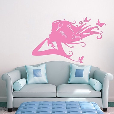 Decal House Beauty Salon Wall Decal; Soft Pink