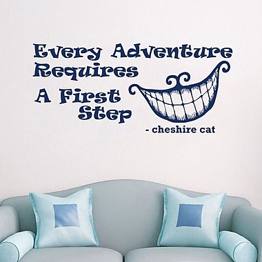 Decal House Alice in Wonderland Every Adventure Wall Decal; Navy Blue
