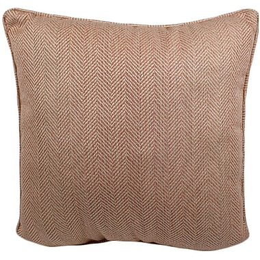Darby Home Co Hulcott Outdoor Throw Pillow; Coral
