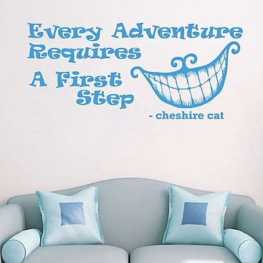 Decal House Alice in Wonderland Every Adventure Wall Decal; Ice Blue