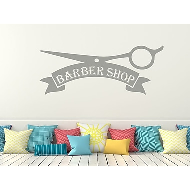 Decal House Barber Shop Wall Decal; Silver Metallic