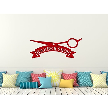 Decal House Barber Shop Wall Decal; Red