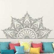 Decal House Mandala Headboard Wall Decal; Silver Metallic