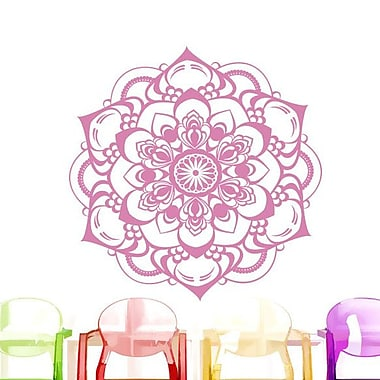 Decal House Mandala Boho Decor Wall Decal; Soft Pink