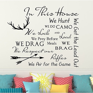 Decal House Family House Rules Quote Wall Decal; Black