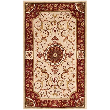 Astoria Grand Latarra Hand Tufted Wool Ivory Area Rug; 3' x 5'
