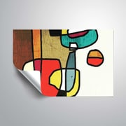 ArtWall Vibrant Colorful Abstract III Wall Mural; 24'' H x 36'' W
