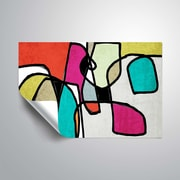 ArtWall Vibrant Colorful Abstract IV Wall Mural; 24'' H x 36'' W
