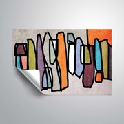 ArtWall Vibrant Colorful Abstract VII Wall Mural; 32'' H x 48'' W