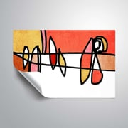ArtWall Vibrant Colorful Abstract V Wall Mural; 16'' H x 24'' W