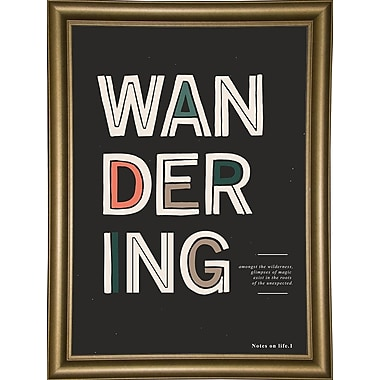 Varick Gallery 'The Unexpected' Graphic Art Print; Bistro Gold Framed Paper