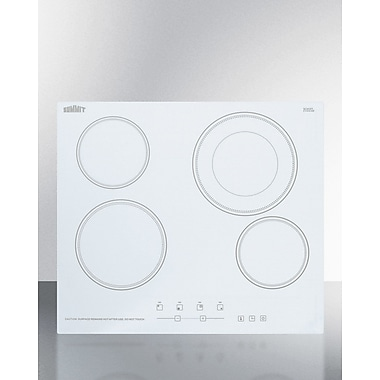 Summit Appliance 24'' Electric Cooktop w/ 4 Burner; White