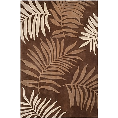 Bayou Breeze Gainesville Hand Tufted Brown Area Rug; 3' x 5'