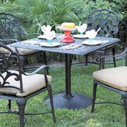 Astoria Grand Fairmont Traditional Weather Resistant Dining Table; Mocha