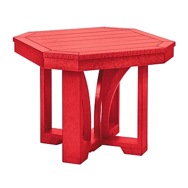 Bayou Breeze Side Table; Red