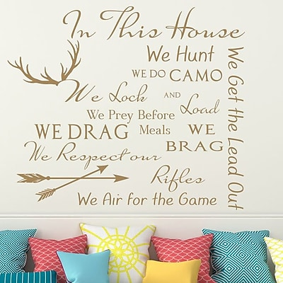 Decal House Family House Rules Quote Wall Decal; Light Brown