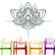 Decal House Mandala Lotus Flower Wall Decal; Silver Metallic