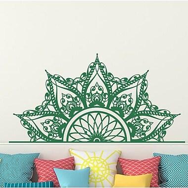 Decal House Mandala Headboard Wall Decal; Mint