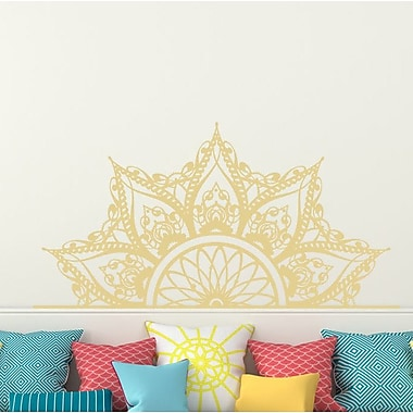 Decal House Mandala Headboard Wall Decal; Cream