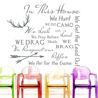 Decal House Family House Rules Quote Wall Decal; Gray