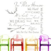 Decal House Family House Rules Quote Wall Decal; Silver Metallic