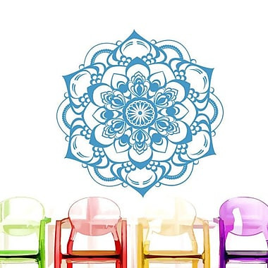 Decal House Mandala Boho Decor Wall Decal; Ice Blue
