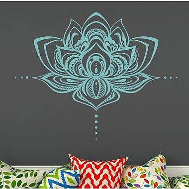 Decal House Mandala Lotus Flower Wall Decal; Mint