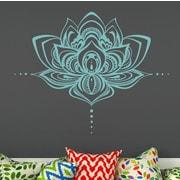 Decal House Mandala Lotus Flower Wall Decal; Mint