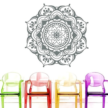 Decal House Mandala Mehndi Decor Wall Decal; Gray