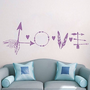 Decal House Love Feather Arrow Wall Decal; Lilac
