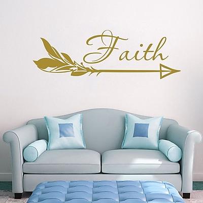 Decal House Arrow Faith Wall Decal; Gold