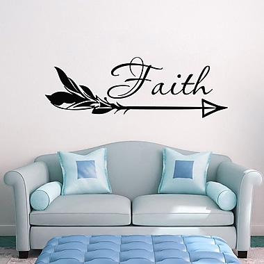 Decal House Arrow Faith Wall Decal; Black